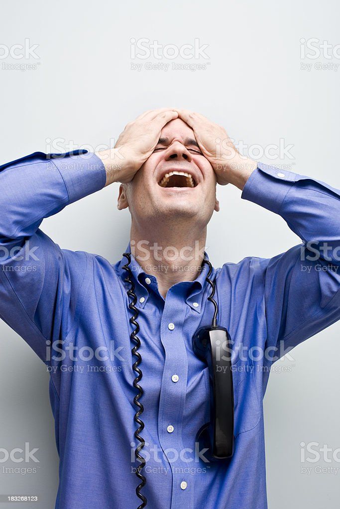upset and stressed royalty-free stock photo