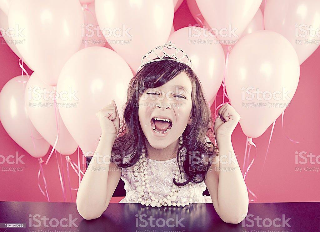 Upset Birthday Girl stock photo