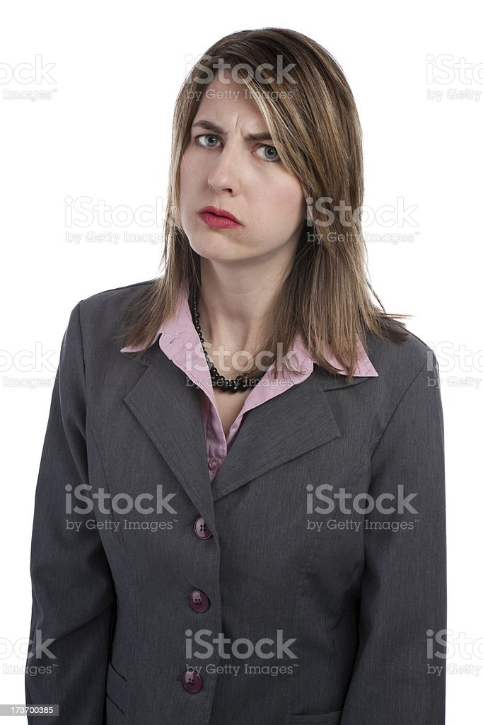 Upset Business Woman royalty-free stock photo