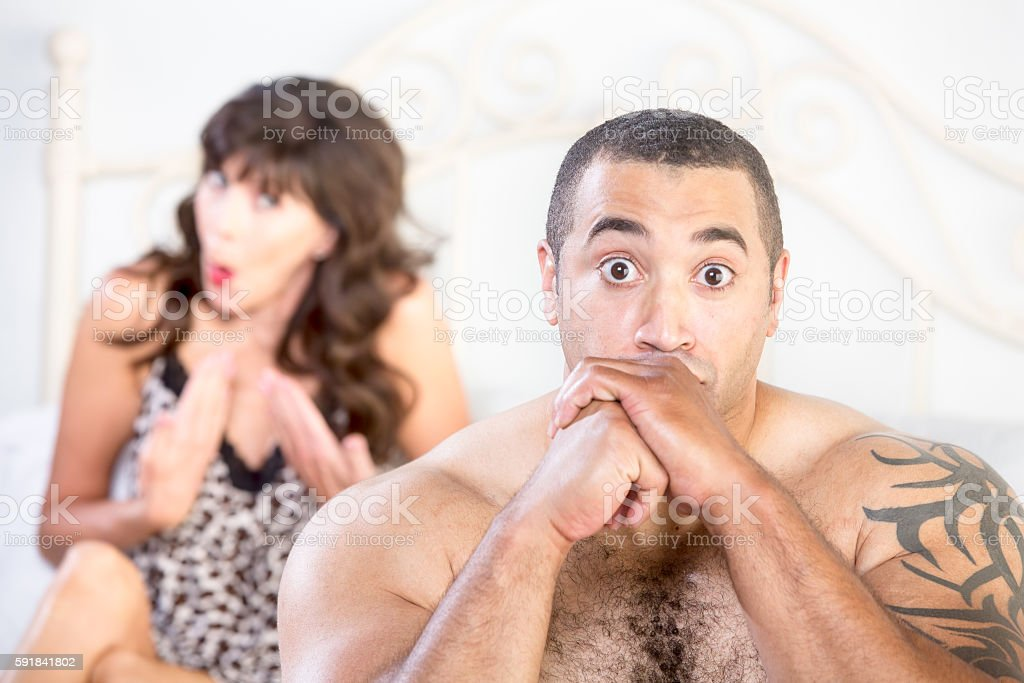 Upset Cougar Berates a Young Boyfriend stock photo