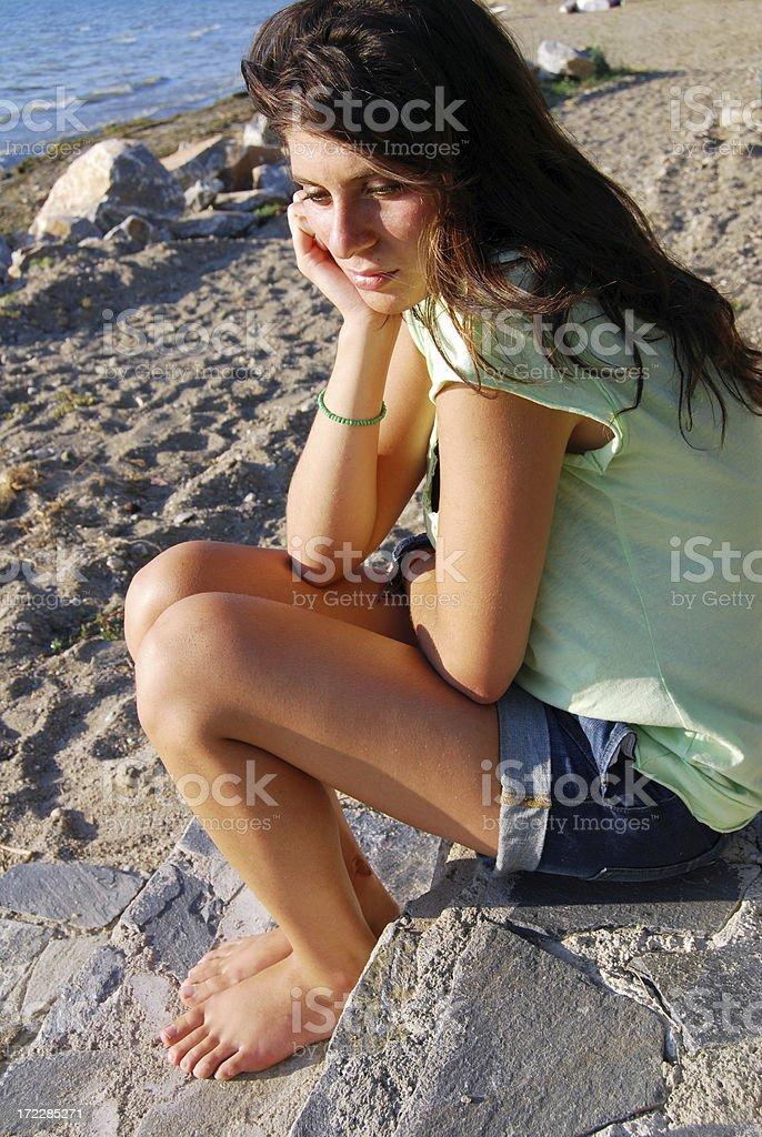 Upset girl royalty-free stock photo