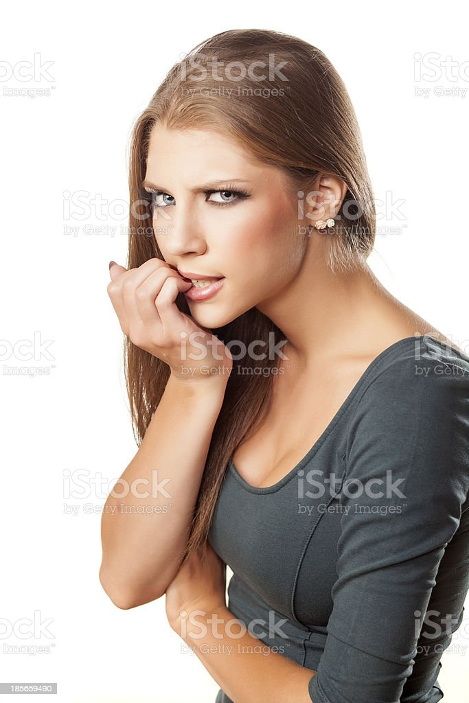 upset girl royalty-free stock photo