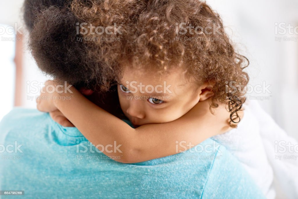 Upset kid stock photo