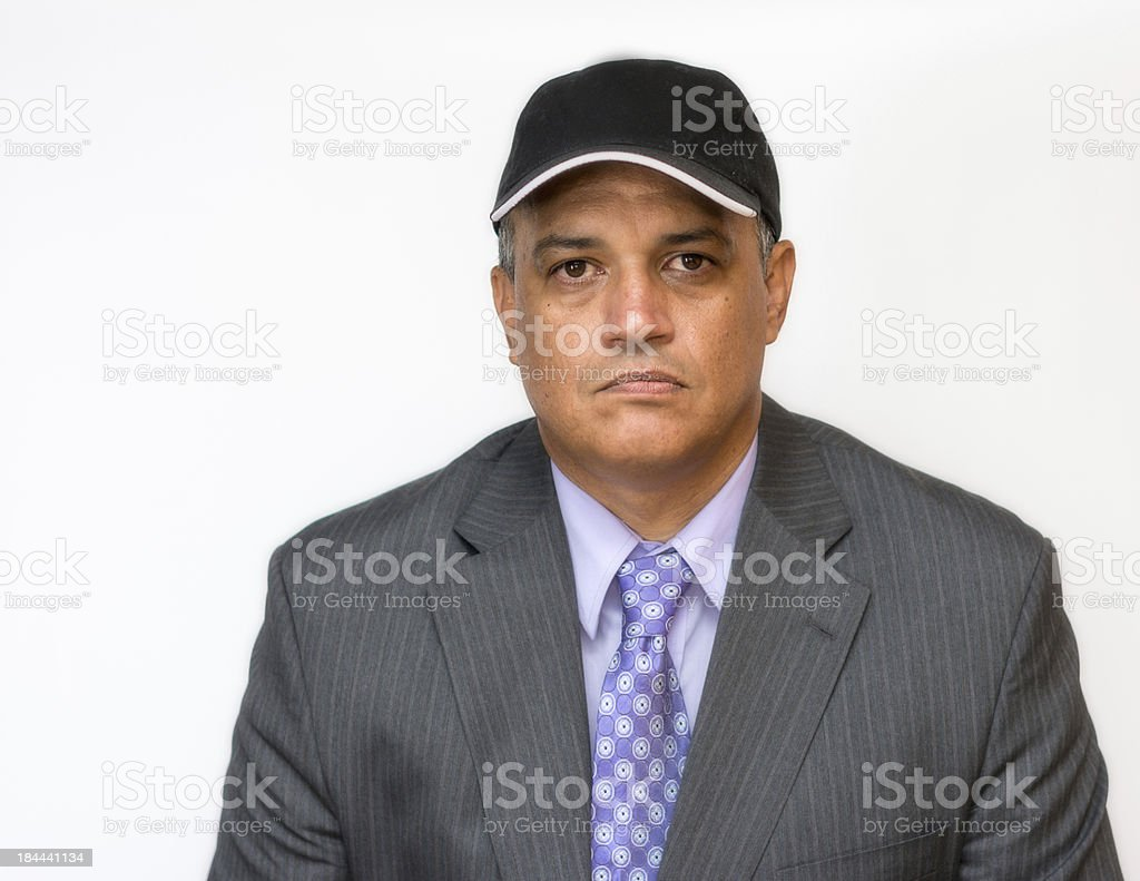 Upset Latin Manager with a Serious Expression royalty-free stock photo