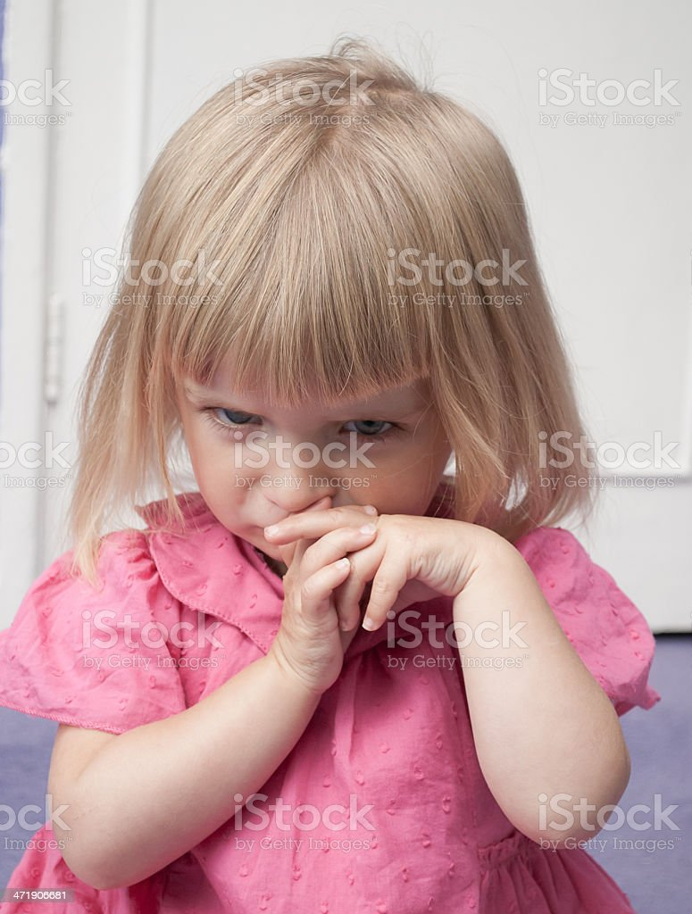 Upset Little Girl royalty-free stock photo
