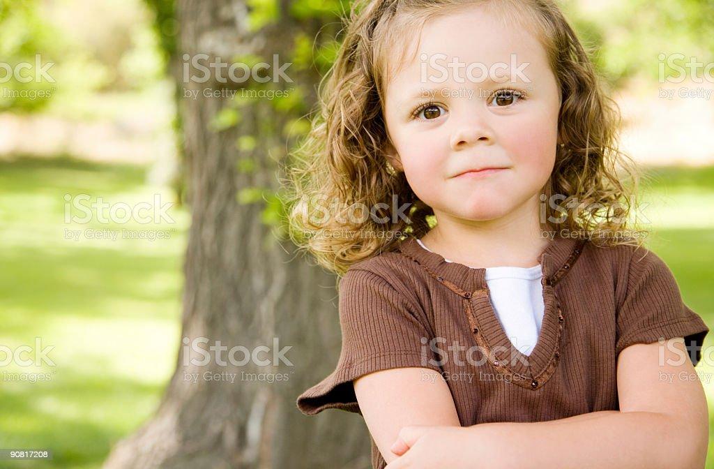 Upset Little Girls stock photo