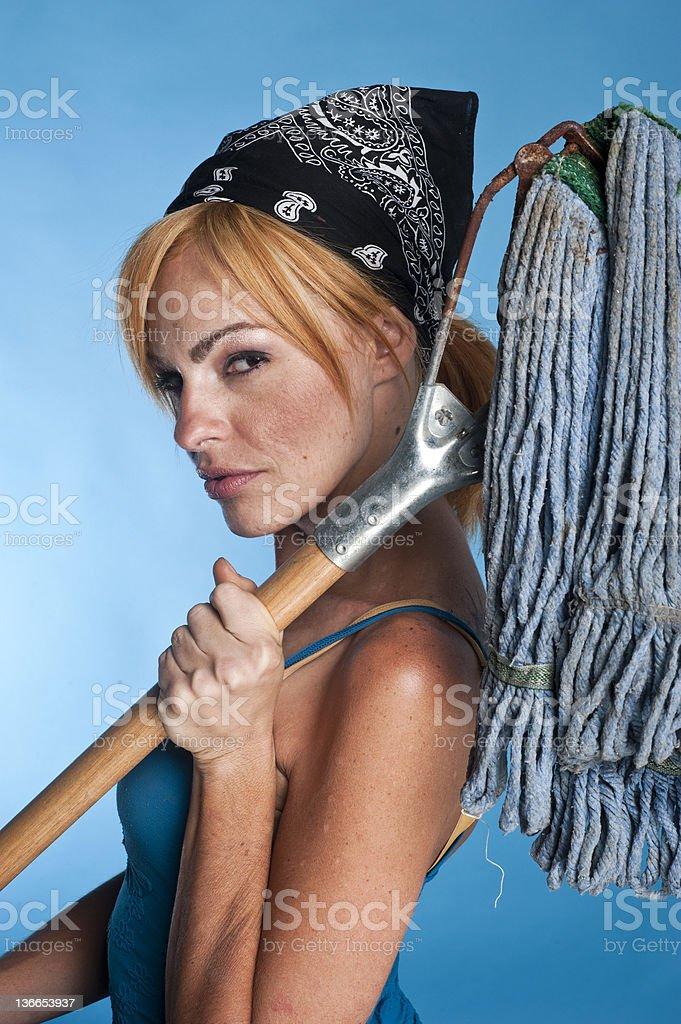 Upset maid royalty-free stock photo