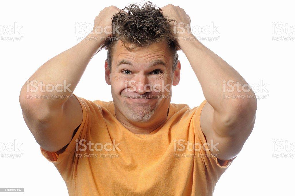 Upset man stock photo