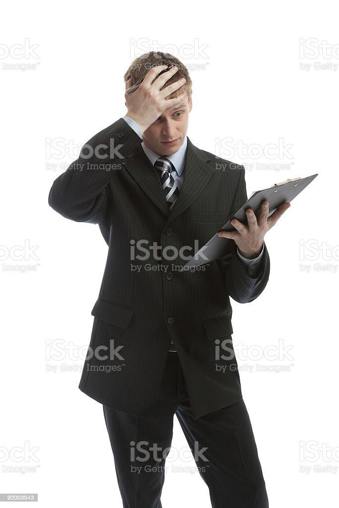 Upset man royalty-free stock photo