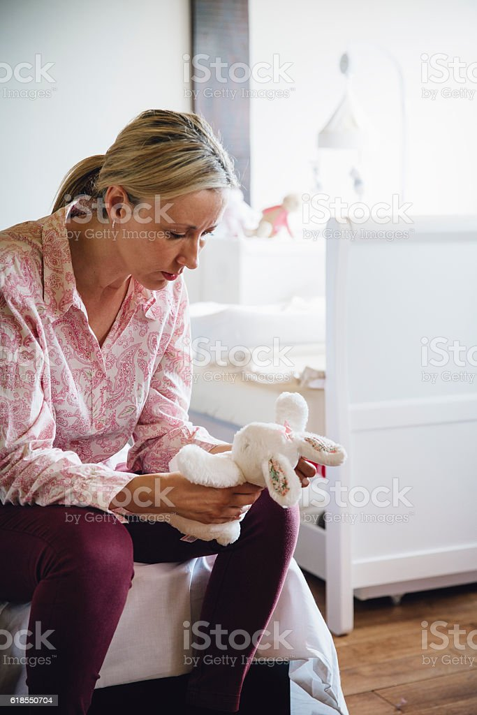 Upset Mother stock photo