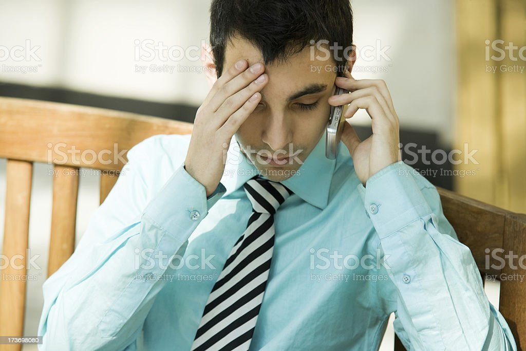 Upset royalty-free stock photo