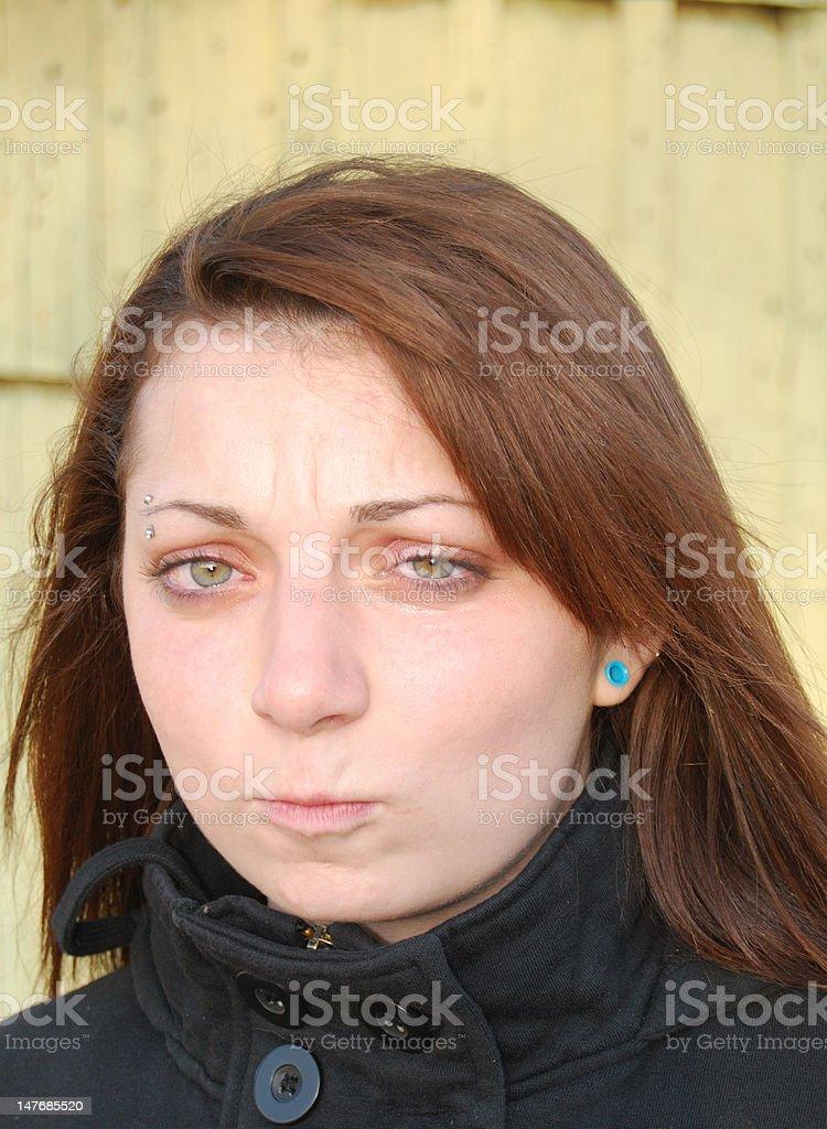 upset teen girl stock photo