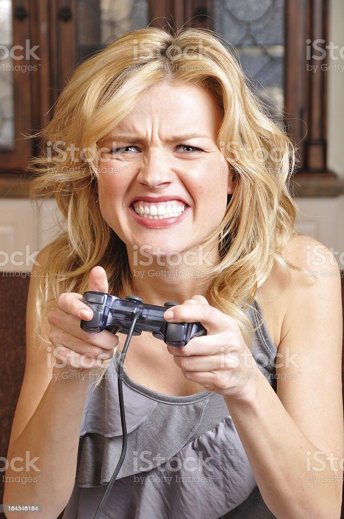 Upset Video Gamer stock photo