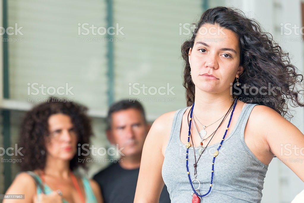 Upset with their Daughter stock photo