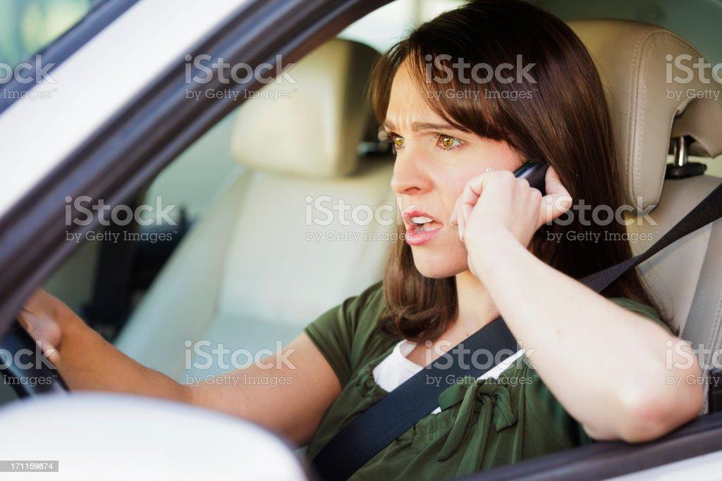Upset Woman Driver royalty-free stock photo