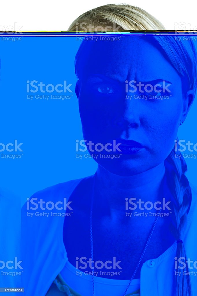 upset woman royalty-free stock photo