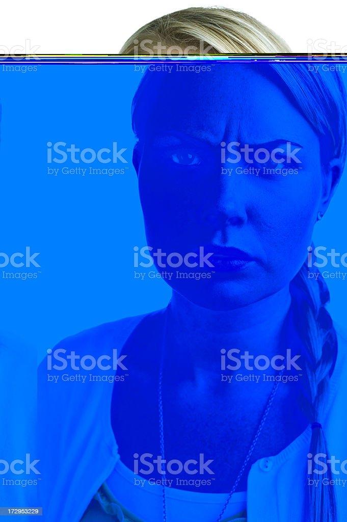 upset woman stock photo