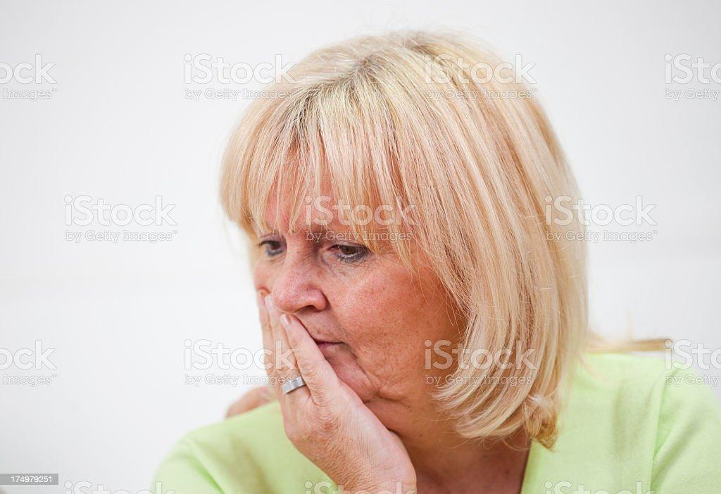 Upset woman. royalty-free stock photo