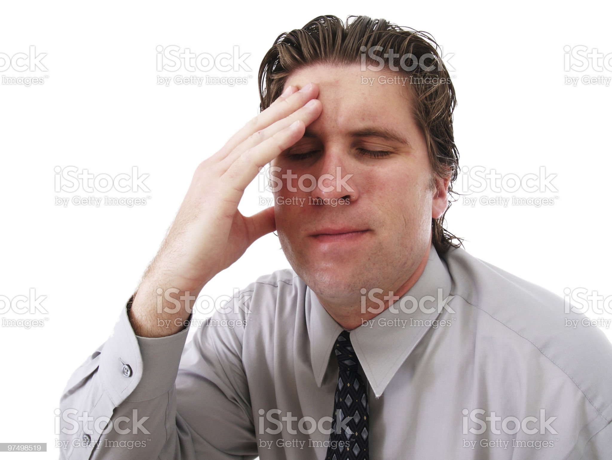 Upset Worker royalty-free stock photo