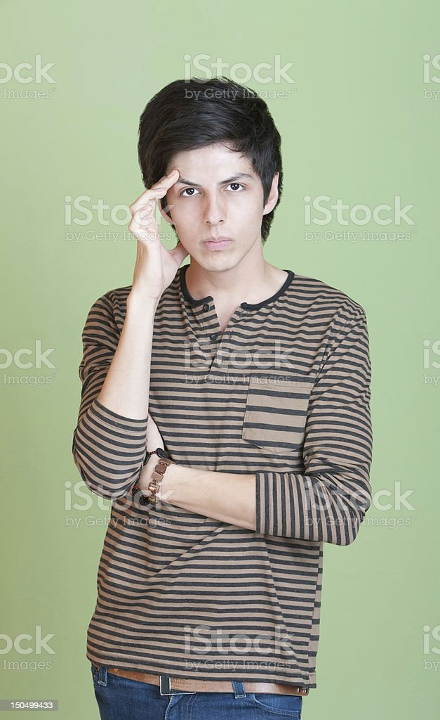 Upset Young Man stock photo
