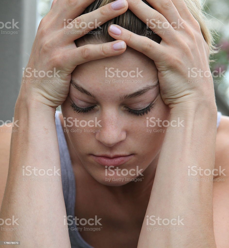 Upset Young woman royalty-free stock photo