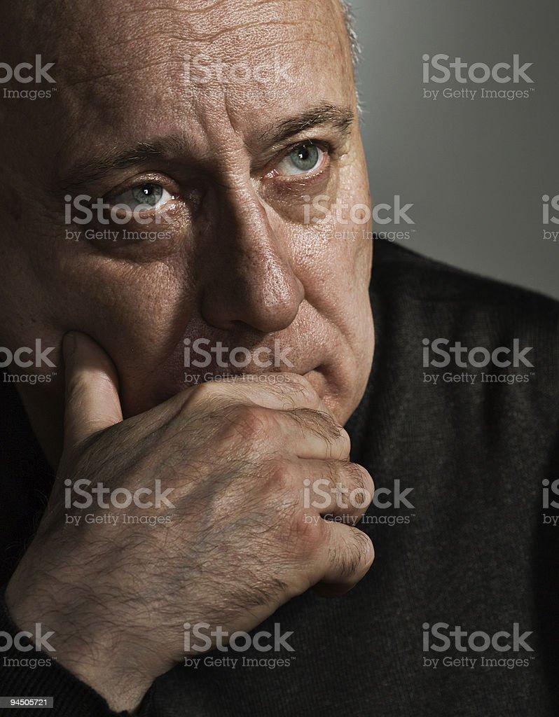 Upsetting thought stock photo