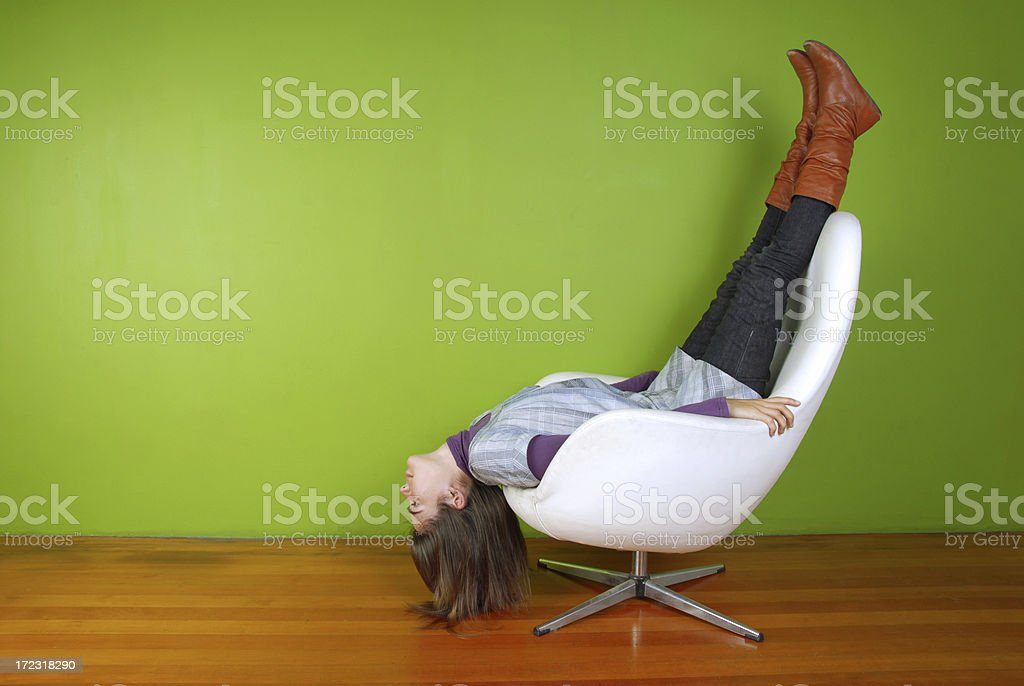 Upside Down and Out royalty-free stock photo