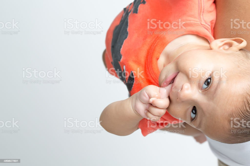 Upside Down Baby royalty-free stock photo