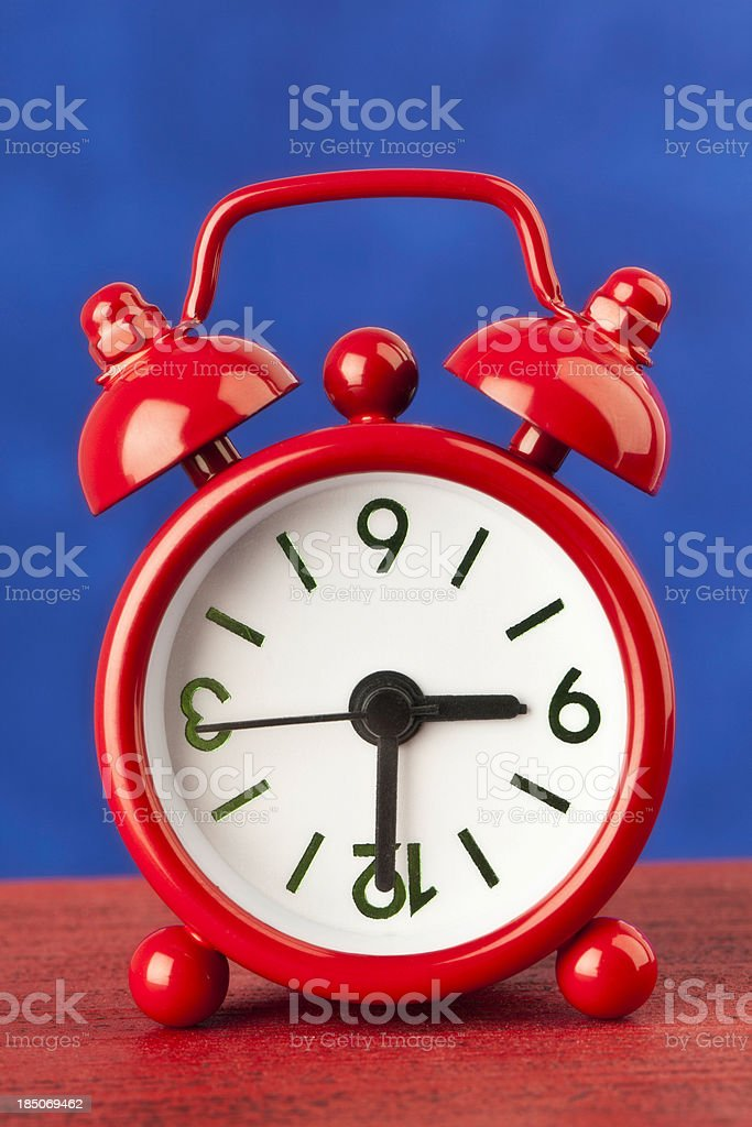Upside Down Clock royalty-free stock photo