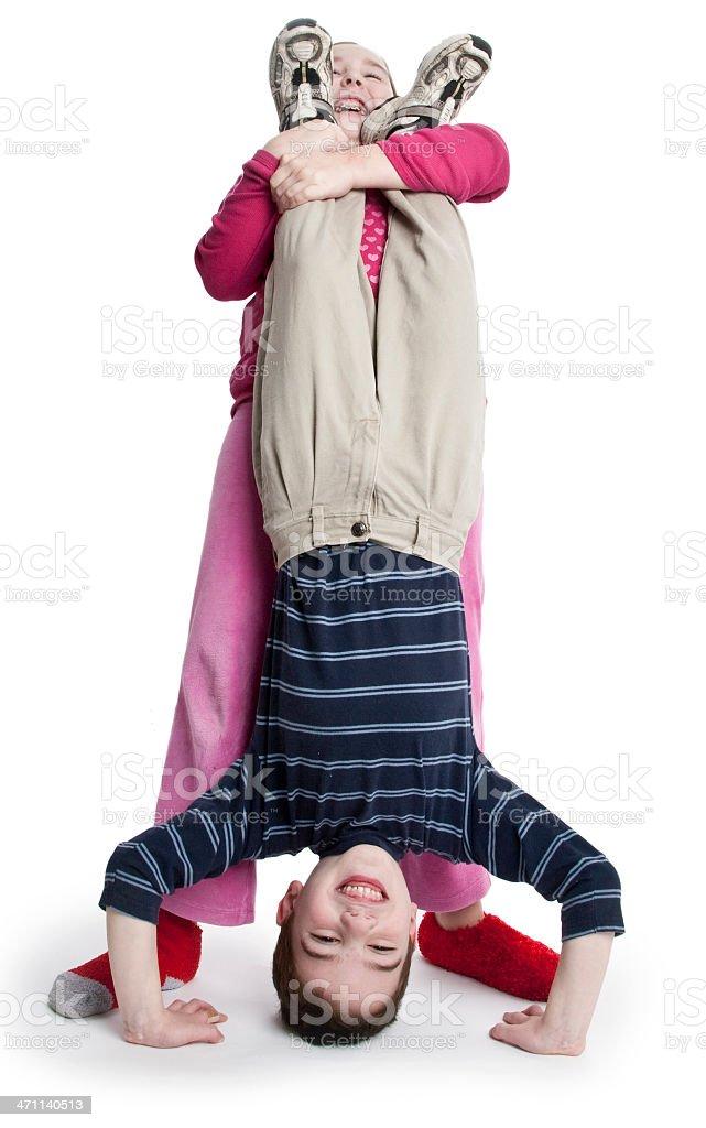 Upside down fun stock photo