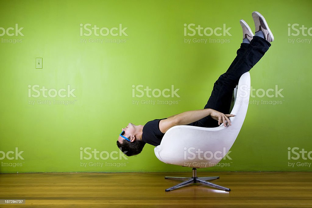 Upside Down Hipster stock photo