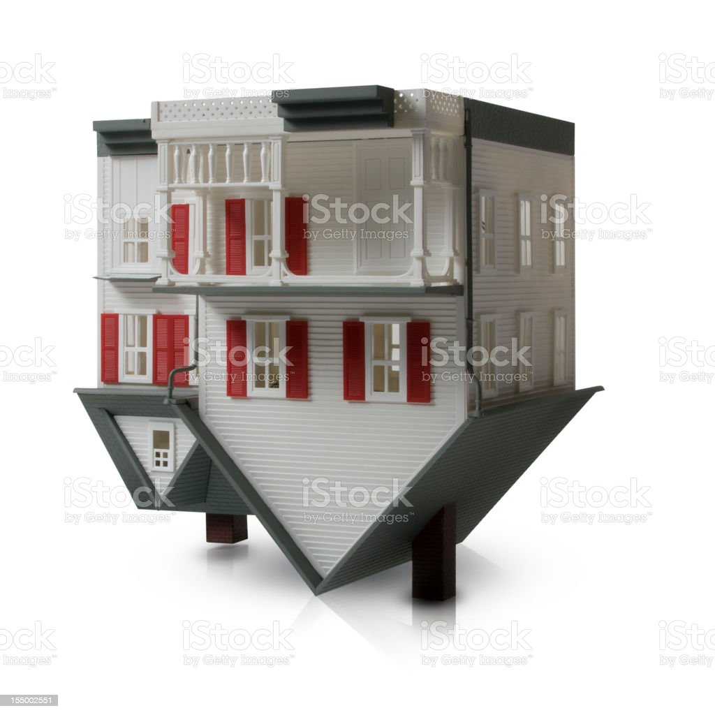 Upside Down House stock photo