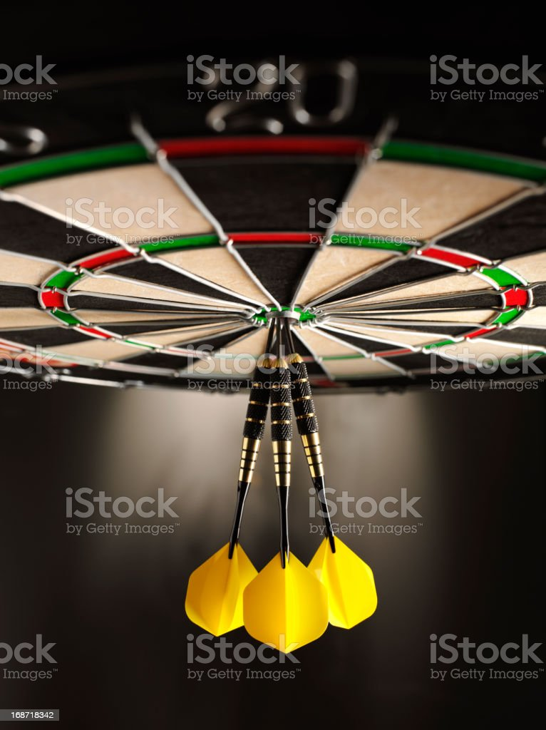 Upside Down or on Target in Darts royalty-free stock photo