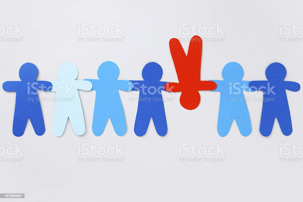 Upside down red boy royalty-free stock photo