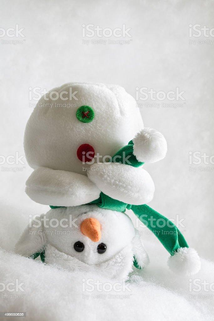 Upside down Snowman Vertical stock photo