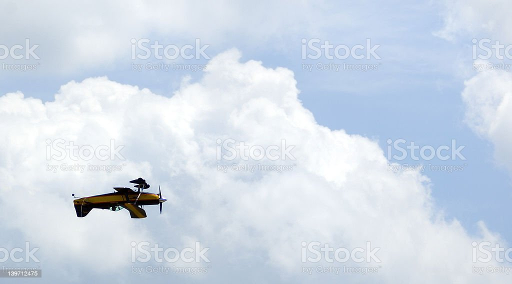 Upside Down Under the Clouds stock photo