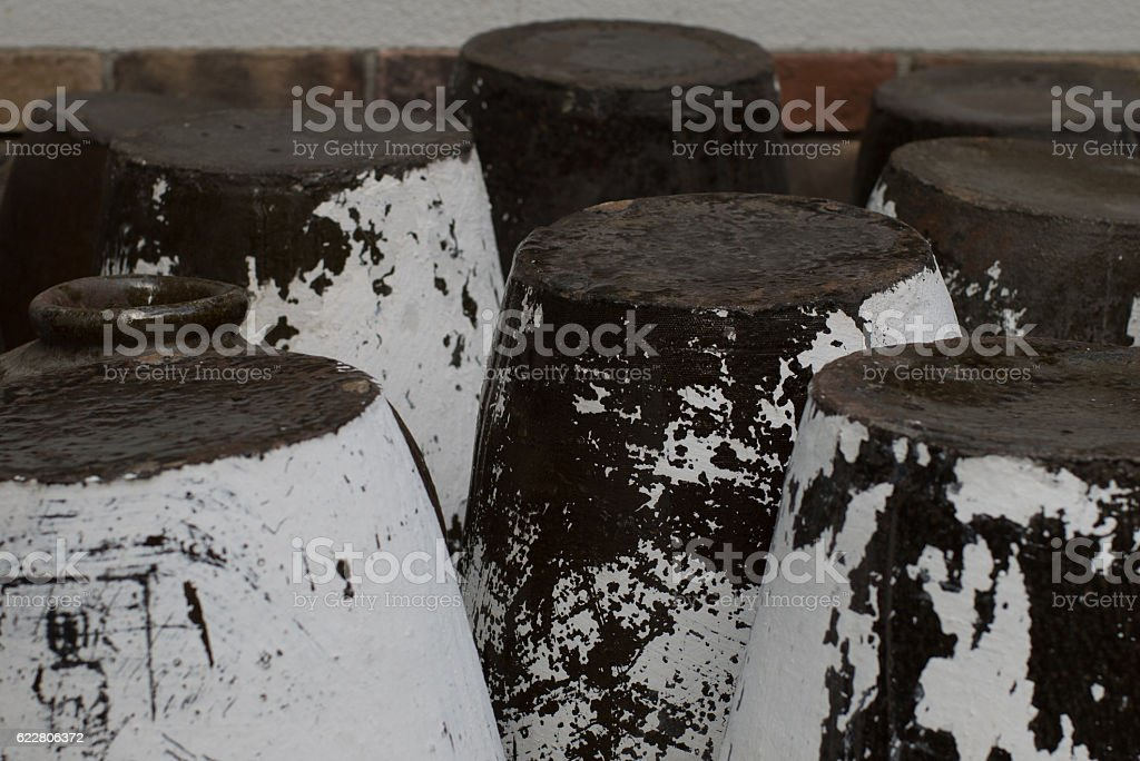Upside-down urn stock photo