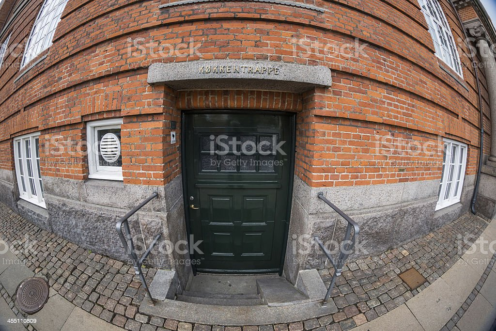 Upstairs Downstairs - humble kitchen entrance stock photo