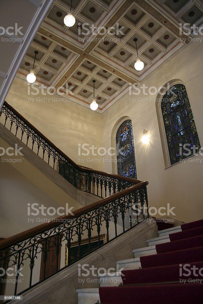 upstairs royalty-free stock photo