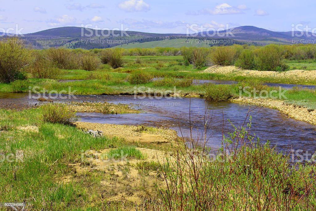 Upstream View, Big Hole stock photo