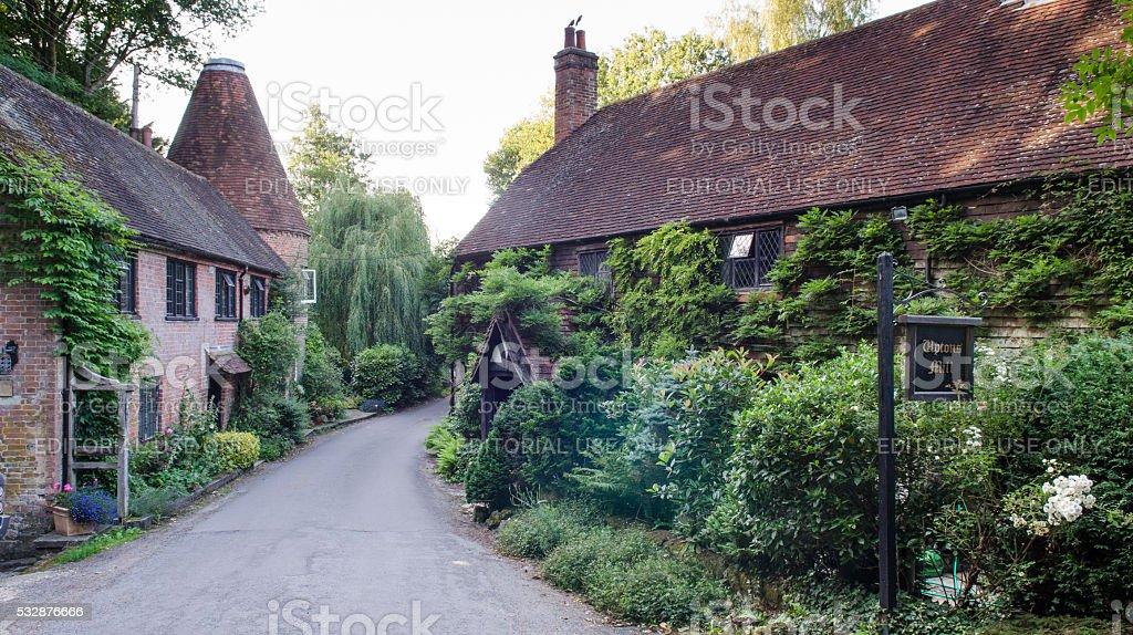 Upton's Mill oast house stock photo