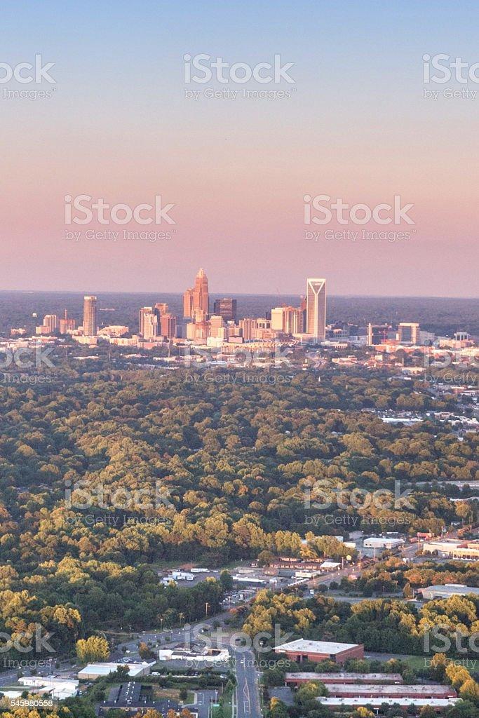 Uptown Charlotte, North Carolina Skyline stock photo