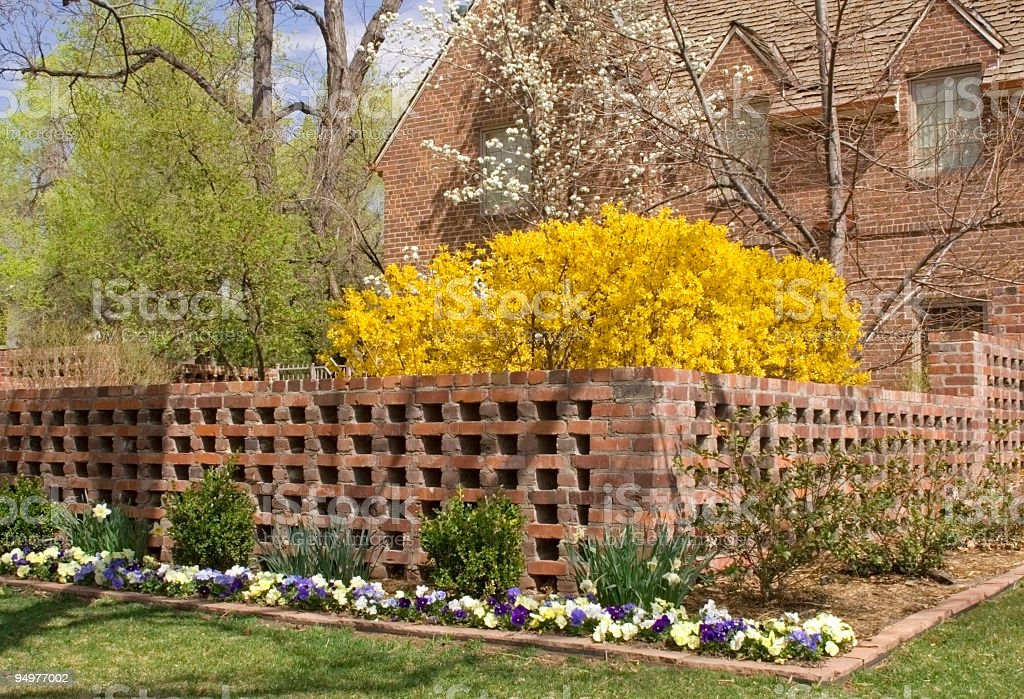 Uptown Mansion in Early Spring royalty-free stock photo