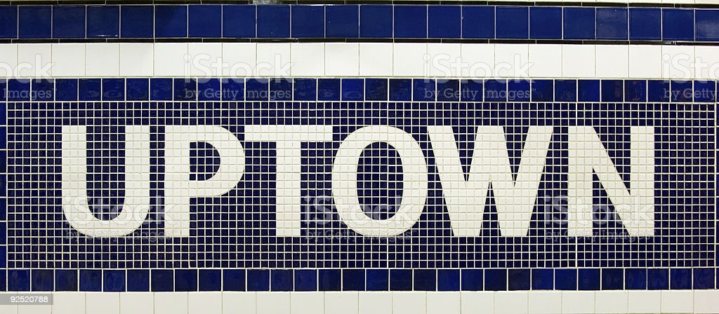 Uptown sign stock photo