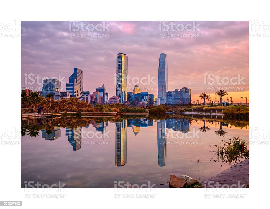 Uptown Sunset stock photo