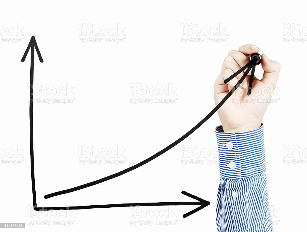 Uptrend Chart royalty-free stock photo