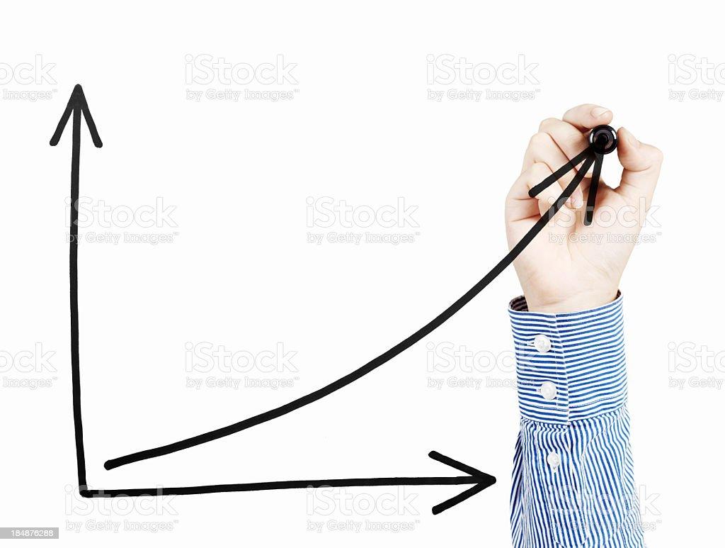 Uptrend Chart stock photo