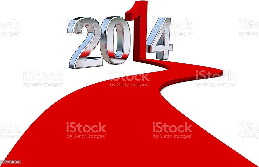 upturn 2014 royalty-free stock photo