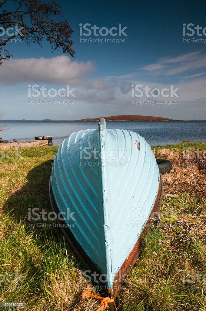 Upturned Boat stock photo