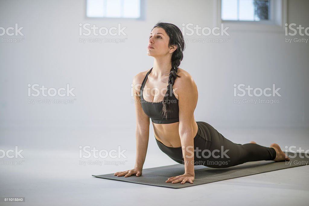 Upward Facing Dog stock photo